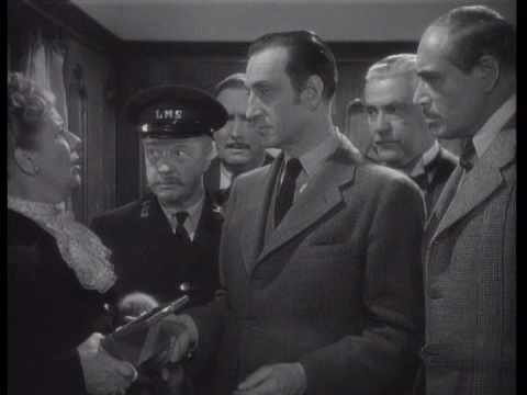 Basil Rathbone and Nigel Bruce in Terror by Night (1946)