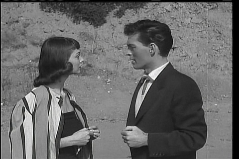 Dawn Anderson and David Love in Teenagers from Outer Space (1959)