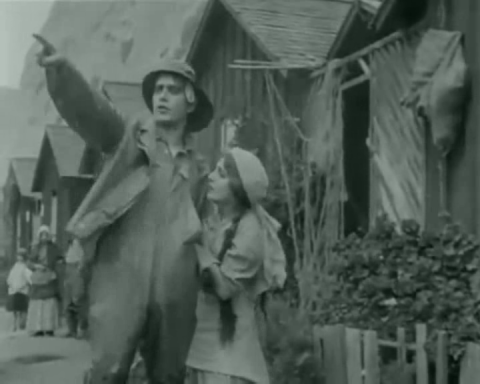 Arthur V. Johnson and Linda Arvidson in D. W. Griffith's The Unchanging Sea (1910)
