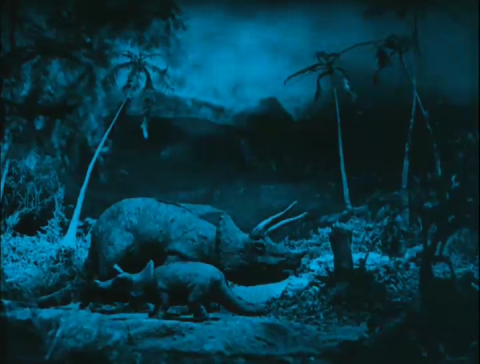 Triceratops in Arthur Conan Doyle's The Lost World (1925)