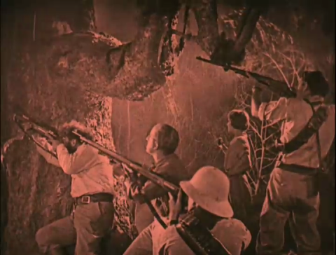 Bessie Love, Lewis Stone, Lloyed Hughes, Wallace Beery and Arthur Hoyt in Arthur Conan Doyle's The Lost World (1925)